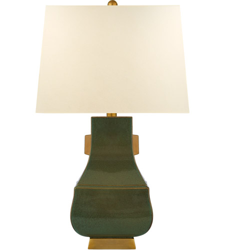 Visual Comfort CHA8694OSG/BG-PL E. F. Chapman Kang Jug 29 inch 100 watt Oslo Green with Burnt Gold Table Lamp Portable Light, Large photo