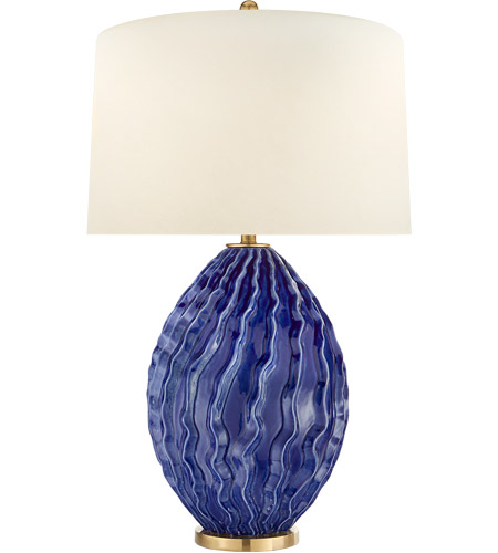 Visual Comfort CHA8697FLB-PL E. F. Chapman Dianthus 31 inch 150 watt Flowing Blue Table Lamp Portable Light, Large photo