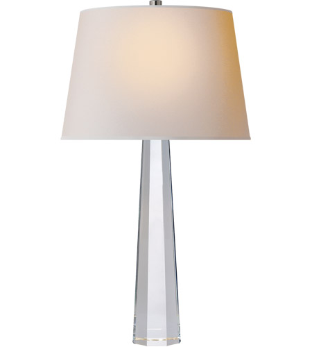 Visual Comfort CHA8950CG-NP E. F. Chapman Fluted Spire 25 inch 150 watt Crystal Decorative Table Lamp Portable Light in Natural Paper photo