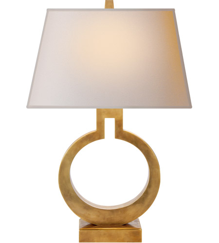 Visual Comfort CHA8969AB-NP E. F. Chapman Ring 21 inch 75 watt Antique-Burnished Brass Decorative Table Lamp Portable Light photo