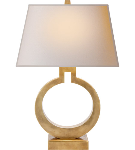 Visual Comfort CHA8970AB-NP E. F. Chapman Ring 27 inch 100 watt Antique-Burnished Brass Decorative Table Lamp Portable Light photo