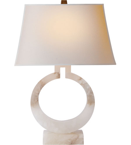 Visual Comfort CHA8970ALB-NP E. F. Chapman Ring 27 inch 100 watt Alabaster Natural Stone Decorative Table Lamp Portable Light photo