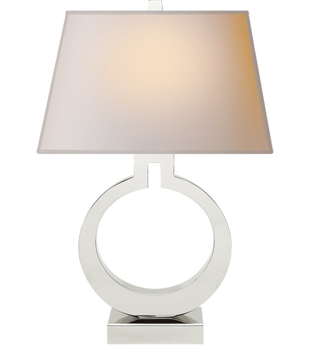 Visual Comfort CHA8970PN-NP E. F. Chapman Ring 27 inch 100 watt Polished Nickel Decorative Table Lamp Portable Light photo