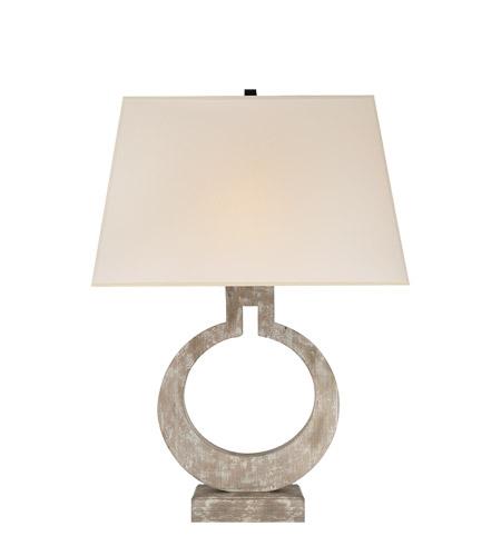 E F Chapman Ring 35 Inch 150 Watt Belgian White Table Lamp Portable Light