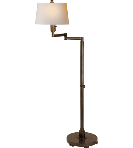 Visual comfort cha9106bz np e f chapman chunky 55 inch 150 watt visual comfort cha9106bz np e f chapman chunky 55 inch 150 watt bronze swing arm floor lamp portable light in natural paper mozeypictures Image collections