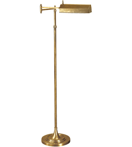 Visual Comfort CHA9107AB E. F. Chapman Dorchester 37 inch 40 watt Antique-Burnished Brass Swing-Arm Floor Lamp Portable Light photo