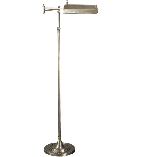 Visual Comfort CHA9107AN E. F. Chapman Dorchester 37 inch 40 watt Antique Nickel Swing-Arm Floor Lamp Portable Light photo