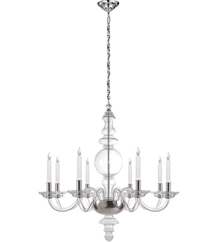 Visual Comfort CHC1144CG/PN E. F. Chapman King George 8 Light 36 inch Crystal with Polished Nickel Chandelier Ceiling Light photo