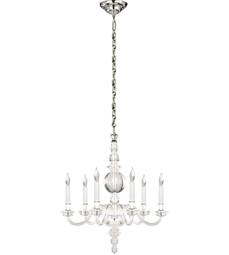 Visual Comfort CHC1155CG/PN E. F. Chapman George Ii 6 Light 22 inch Polished Nickel Chandelier Ceiling Light in Crystal, Polished Silver photo