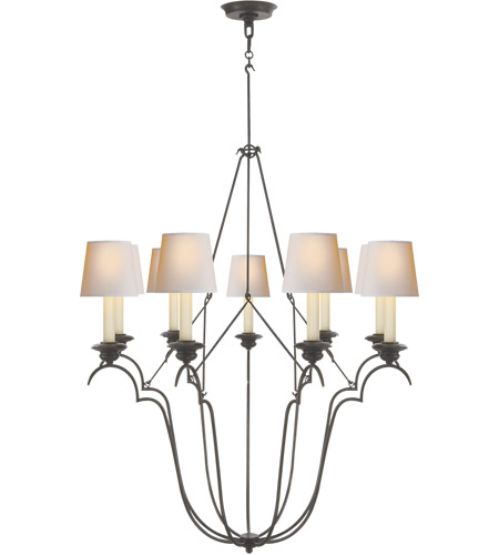 Visual Comfort CHC1403AI-NP E. F. Chapman Belvedere 9 Light 33 inch Aged Iron Chandelier Ceiling Light photo