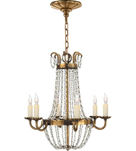 Visual Comfort Chc1407ab Sg E F Chapman Paris Flea Market 6 Light 16 Inch Antique Burnished Brass Chandelier Ceiling Light