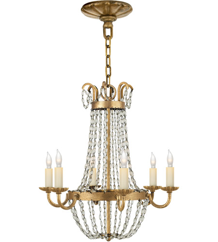 Visual Comfort Chc1407gi Sg E F Chapman Paris Flea Market 6 Light 16 Inch Gilded Iron Chandelier Ceiling Light