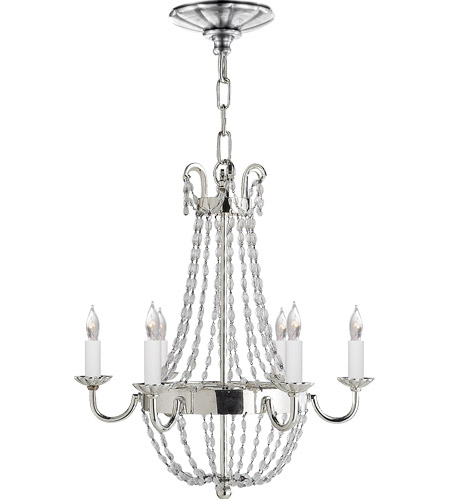 Visual Comfort CHC1407PS-SG E F Chapman Paris Flea Market 6 Light 16 inch Polished Silver Chandelier Ceiling Light photo