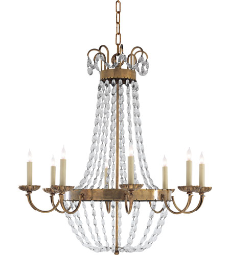 Visual Comfort E.F. Chapman Paris Flea Market 8 Light Chandelier in Antique-Burnished Brass CHC1408AB-SG photo