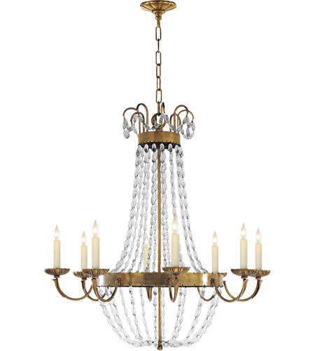 Visual Comfort CHC1408AB-SG E F Chapman Paris Flea Market 8 Light 32 inch Antique-Burnished Brass Chandelier Ceiling Light photo