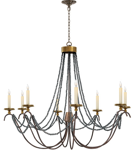 Visual Comfort CHC1413R E.F. Chapman Marigot 8 Light 44 inch Hand Painted Rust Finish Chandelier Ceiling Light photo