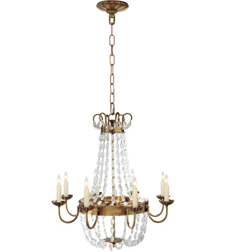 E F Chapman Paris Flea Market 8 Light 24 Inch Antique Burnished Brass Chandelier Ceiling Light