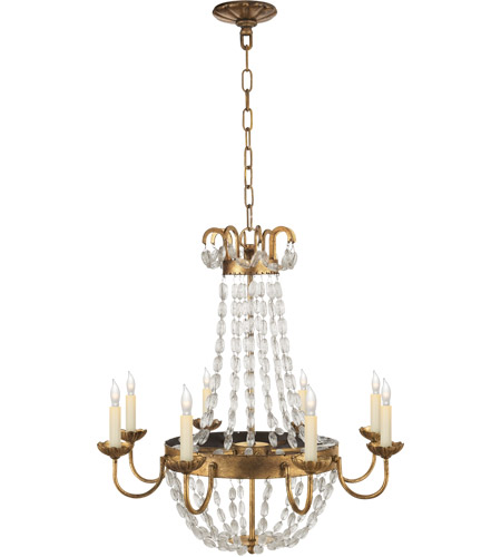 E F Chapman Paris Flea Market 8 Light 24 Inch Gilded Iron Chandelier Ceiling Light