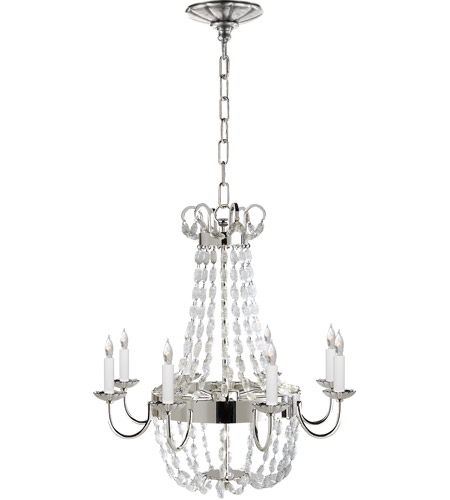 Visual Comfort CHC1426PS-SG E F Chapman Paris Flea Market 8 Light 24 inch Polished Silver Chandelier Ceiling Light photo