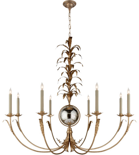 Visual Comfort CHC1474GI-NP E. F. Chapman Gramercy 8 Light 42 inch Gilded Iron Chandelier Ceiling Light photo
