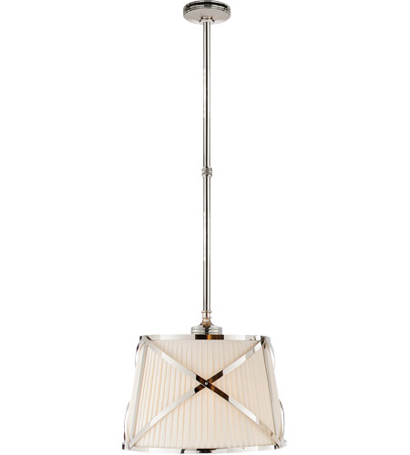 Visual Comfort CHC1480PN-L E. F. Chapman Grosvenor 2 Light 15 inch Polished Nickel Hanging Shade Ceiling Light photo
