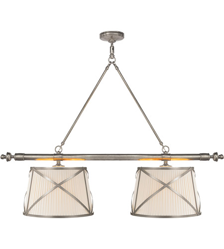 Visual Comfort CHC1481AN-L E. F. Chapman Grosvenor 4 Light 51 inch Antique Nickel Linear Pendant Ceiling Light photo