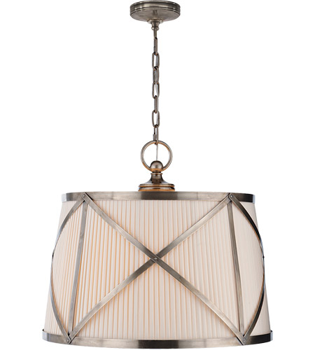 Visual Comfort CHC1483AN-L E. F. Chapman Grosvenor 3 Light 24 inch Antique Nickel Hanging Shade Ceiling Light photo