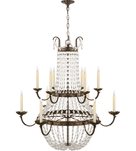 Visual Comfort CHC1508SHS-SG E F Chapman Paris Flea Market 12 Light 40 inch Sheffield Silver Chandelier Ceiling Light photo