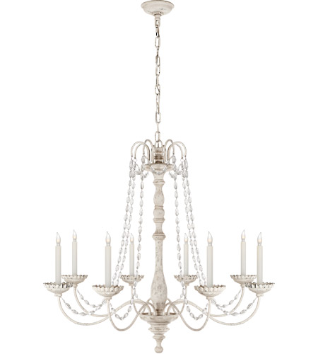 Visual Comfort CHC1548BW-SG E. F. Chapman Flanders 8 Light 36 inch Belgian White Chandelier Ceiling Light photo