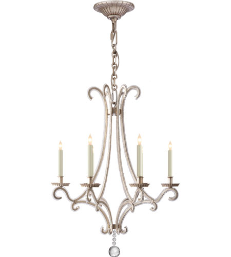 Visual Comfort Chc1552bsl Cg E F Chapman Oslo 6 Light 23 Inch Burnished Silver Leaf Chandelier Ceiling