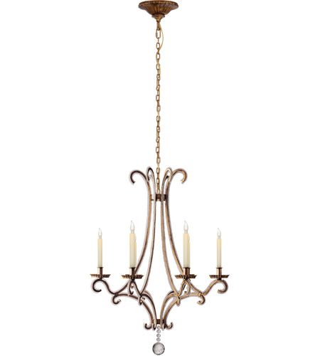 Visual Comfort Chc1552gi Cg E F Chapman Oslo 6 Light 23 Inch Gilded Iron With Wax Chandelier Ceiling