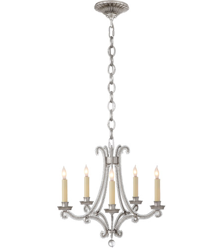 Visual Comfort Chc1559bsl Cg E F Chapman Oslo 5 Light 17 Inch Burnished Silver Leaf Chandelier Ceiling