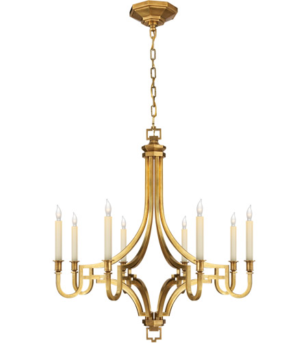 Visual Comfort CHC1561AB E. F. Chapman Mykonos 8 Light 28 inch Antique-Burnished Brass Chandelier Ceiling Light in Antique Burnished Brass photo