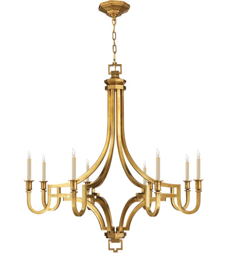 Visual Comfort CHC1562AB E. F. Chapman Mykonos 8 Light 37 inch Antique-Burnished Brass Chandelier Ceiling Light photo