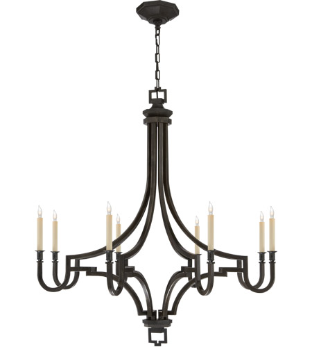 Visual Comfort CHC1562AI E. F. Chapman Mykonos 8 Light 37 inch Aged Iron Chandelier Ceiling Light photo