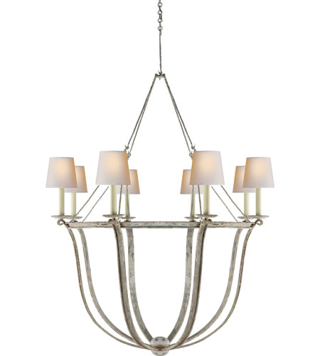 Visual Comfort E.F. Chapman Lancaster 8 Light Chandelier in Old White CHC1577OW-NP photo
