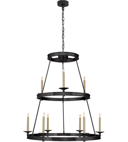 Visual Comfort CHC1606BZ E. F. Chapman Launceton 9 Light 36 inch Bronze Chandelier Ceiling Light, Medium Two Tier photo