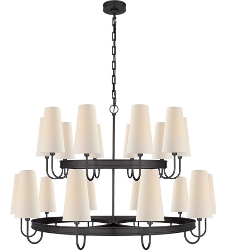 Visual Comfort CHC1620BZ-L E. F. Chapman Venini 20 Light 46 inch Bronze Chandelier Ceiling Light, Large photo thumbnail
