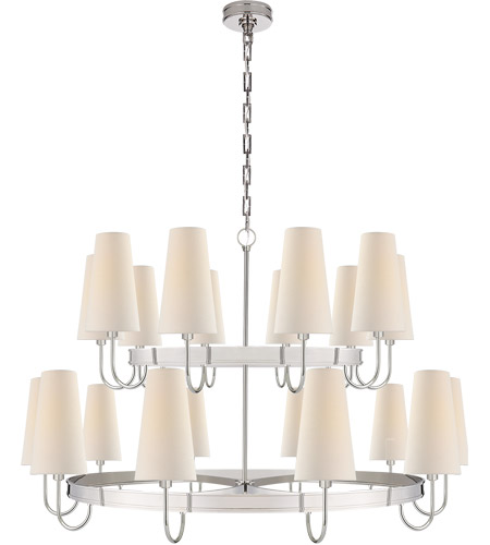 Visual Comfort CHC1620PN-L E. F. Chapman Venini 20 Light 46 inch Polished Nickel Chandelier Ceiling Light, Large photo