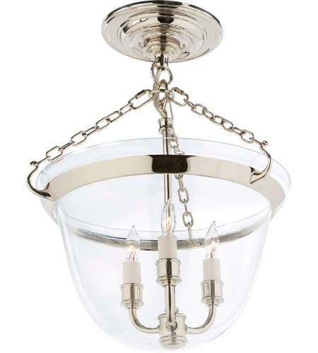 Visual Comfort CHC2109PN E. F. Chapman Country 3 Light 13 inch Polished Nickel Semi-Flush Ceiling Light photo