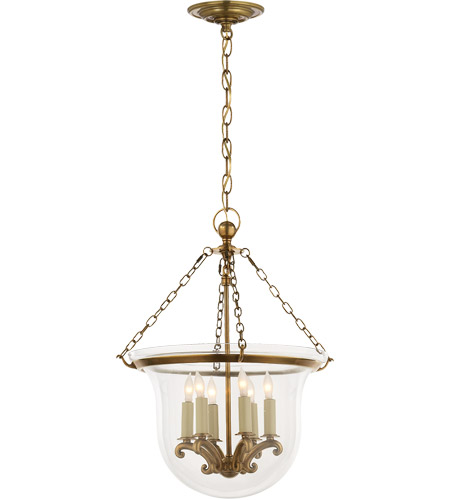 Visual Comfort CHC2117AB E. F. Chapman Country 6 Light 16 inch Antique-Burnished Brass Foyer Pendant Ceiling Light photo