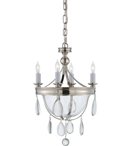 Visual Comfort E.F. Chapman Devon 4 Light Chandelier in Polished Nickel CHC2138PN-CG photo