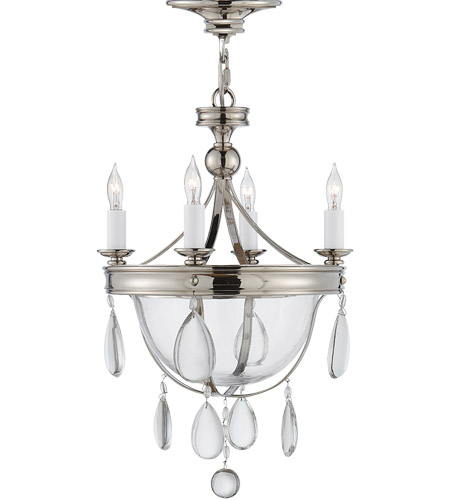 Visual Comfort CHC2138PN-CG E. F. Chapman Devon 4 Light 11 inch Polished Nickel Chandelier Ceiling Light photo