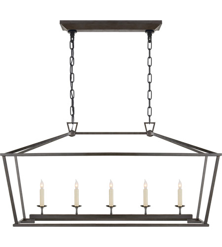 Visual Comfort CHC2156AI E. F. Chapman Darlana 5 Light 41 inch Aged Iron Linear Lantern Ceiling Light photo