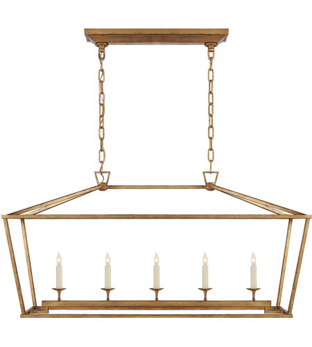 Visual Comfort CHC2156GI E. F. Chapman Darlana 5 Light 41 inch Gilded Iron Linear Lantern Ceiling Light photo