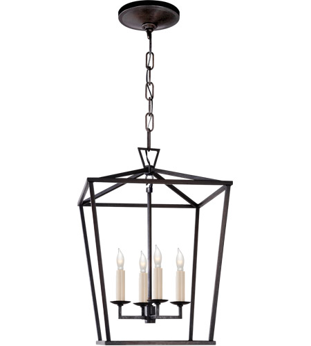 Visual Comfort CHC2164AI E. F. Chapman Darlana 4 Light 13 inch Aged Iron Foyer Pendant Ceiling Light photo