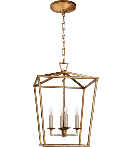 Visual Comfort Chc2164gi E F Chapman Darlana 4 Light 13 Inch Gilded Iron Foyer Lantern Ceiling Small