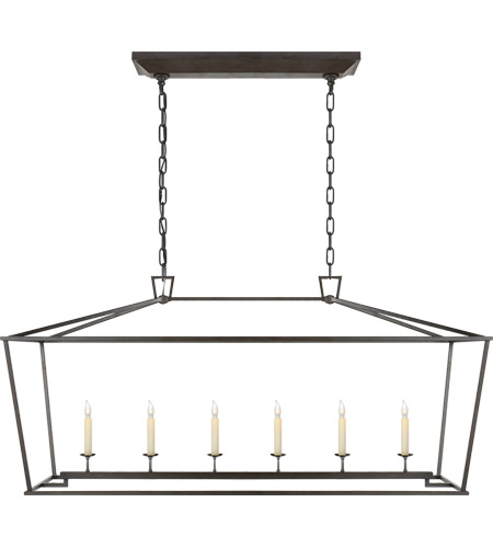 Visual Comfort CHC2166AI E. F. Chapman Darlana 6 Light 54 inch Aged Iron with Wax Linear Pendant Ceiling Light photo