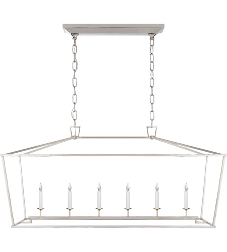 Visual Comfort CHC2166PN E. F. Chapman Darlana 6 Light 54 inch Polished Nickel Linear Pendant Ceiling Light photo