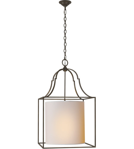 Visual Comfort CHC2167AI-NP E. F. Chapman Gustavian 3 Light 21 inch Aged Iron Foyer Pendant Ceiling Light photo